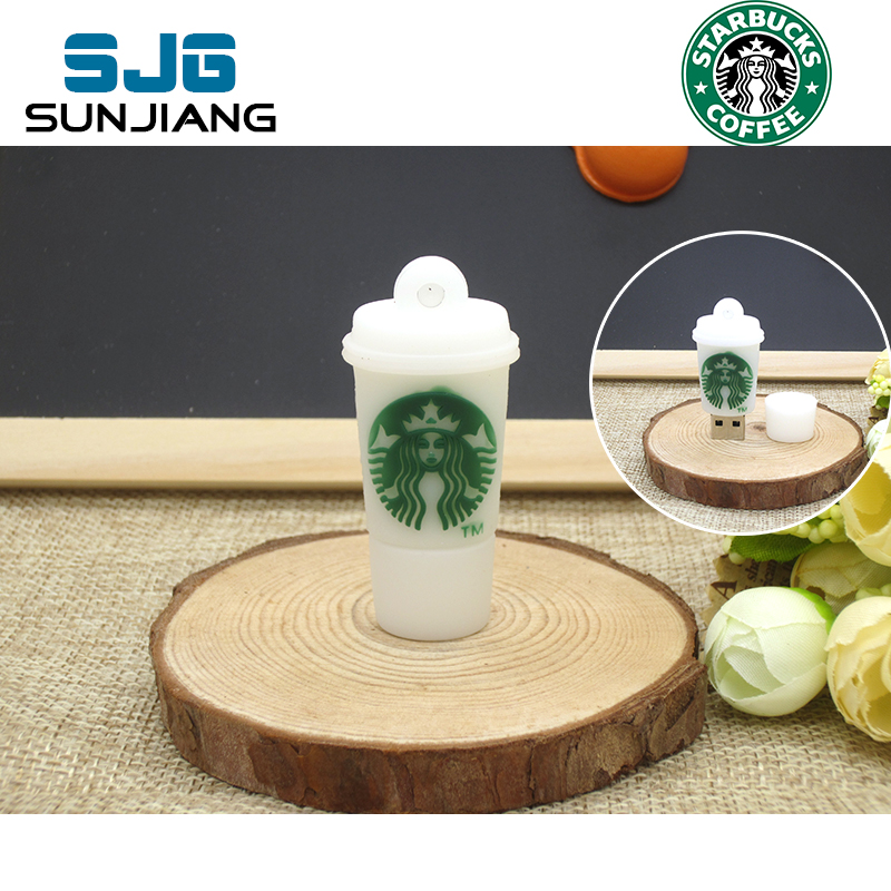 real capacity Starbucks cup Mug USB flash drive 64GB pen drive 8gb 16gb 32gb 4GB Memory Stick Pendrive U Disk creative HOT Gift(China (Mainland))