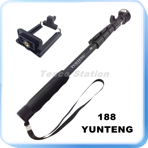 original yunteng 188 monopod high quality aluminum alloy handheld extendable. Black Bedroom Furniture Sets. Home Design Ideas