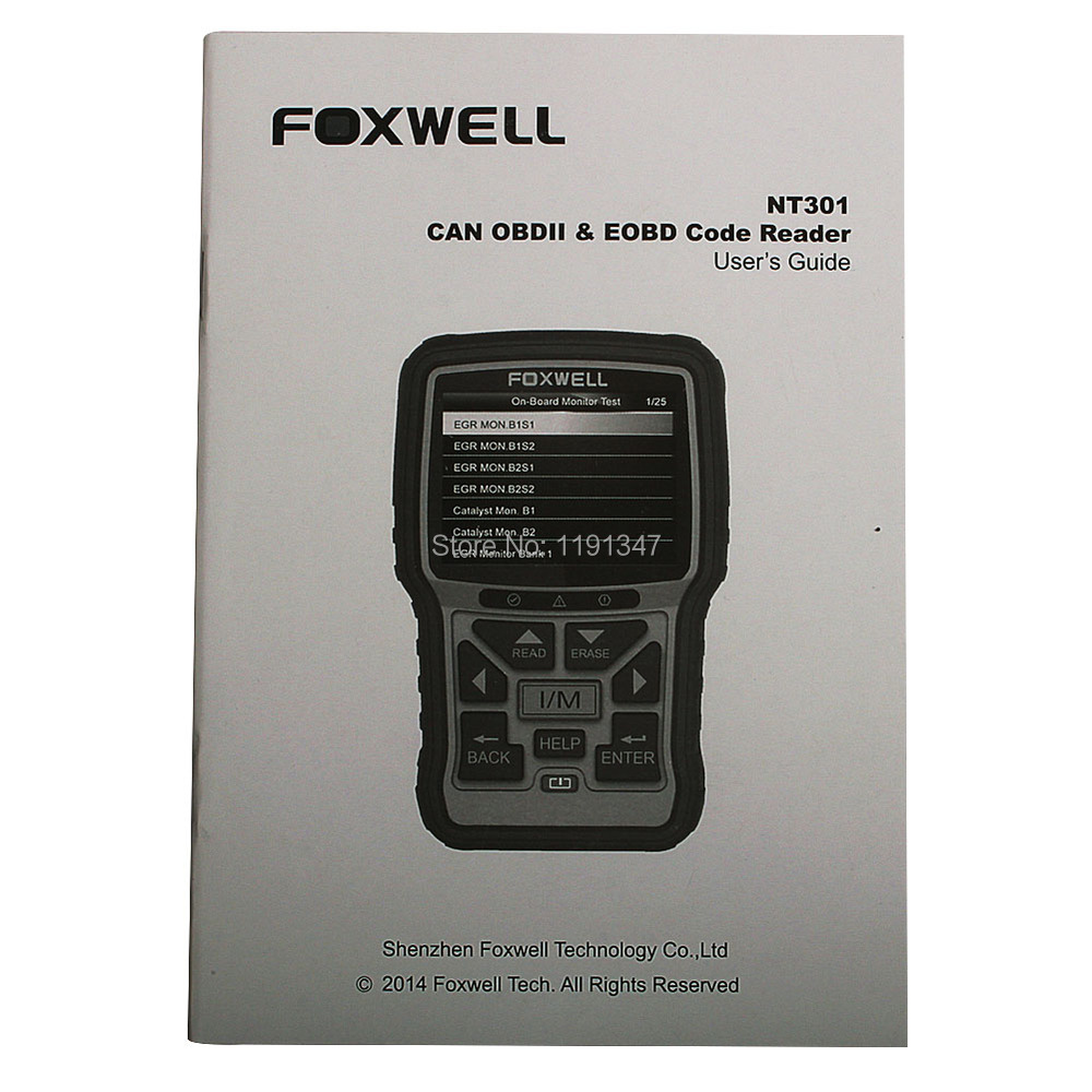 Foxwell NT301 Can OBDII EOBD Code Reader Update Online Powerful Auto Diagnostic Check Engine Scanner Tool