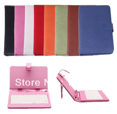 "Free Shipping 7 inch Keyboard and Leather Cover Case Bag Standard USB Keyboard for 7"" Tablet PC Android MID PDA(China (Mainland))"