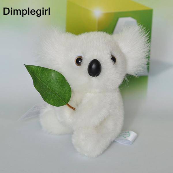 V-1L.(white/grey),Novelty,Kawaii Cute Soft Plush Koala Toy,Stuffed Animal For Baby Girl Birthday Gift,Small Size 13cm,1PCS(China (Mainland))