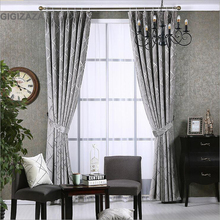 Newchenille blinds jacquard fabric curtain for livingroom silver GIGIZAZA black out custom size shade american style for bedroom(China (Mainland))