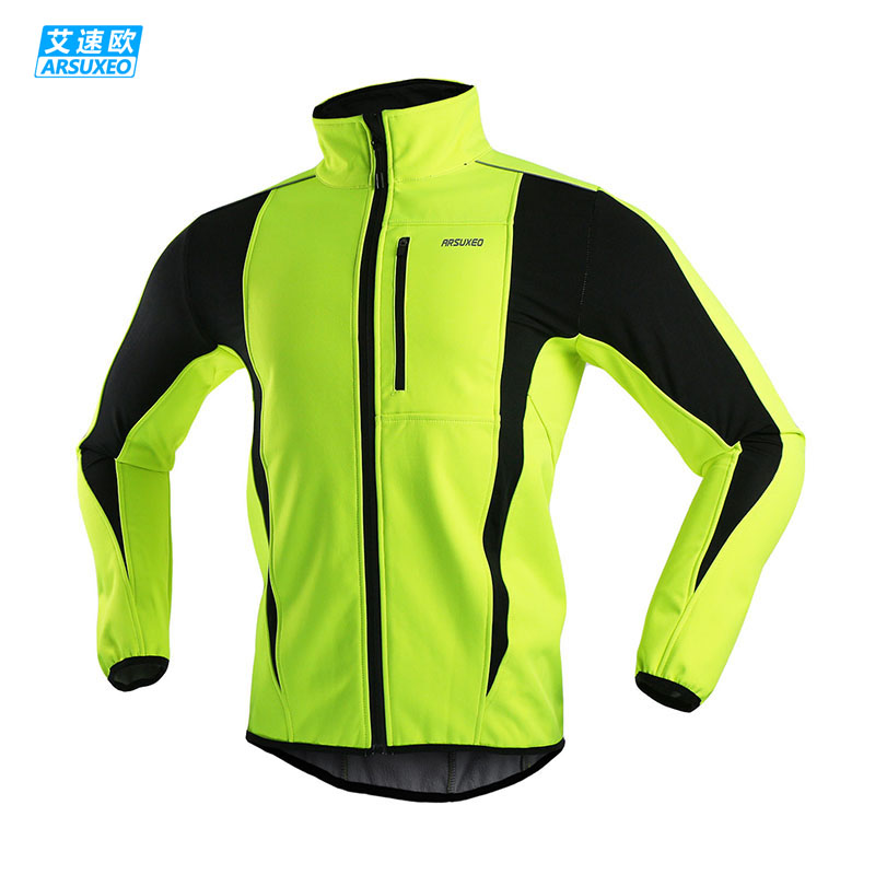 ARSUXEO 2015 Thermal Cycling Jacket Winter Warm Up Bicycle Clothing Windproof Waterproof Soft shell Coat MTB Bike Jersey 15-K(China (Mainland))
