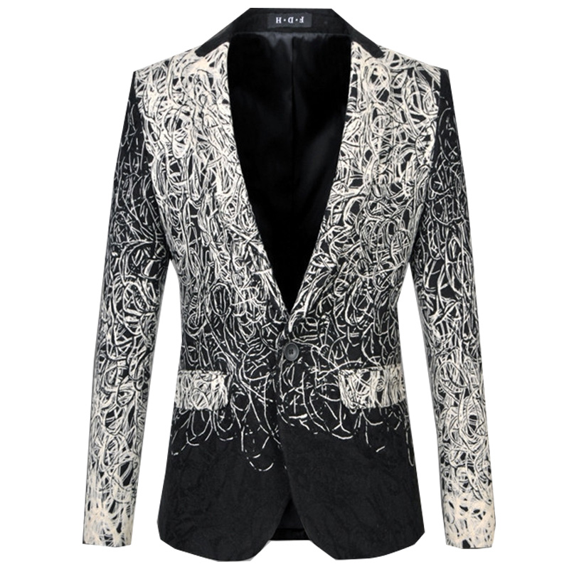 Здесь можно купить    Plus Size M-6XL male master Sequins Prom Dresses Stage Costumes Men Suits top Host Clothing Singer Blazer coat   Одежда и аксессуары