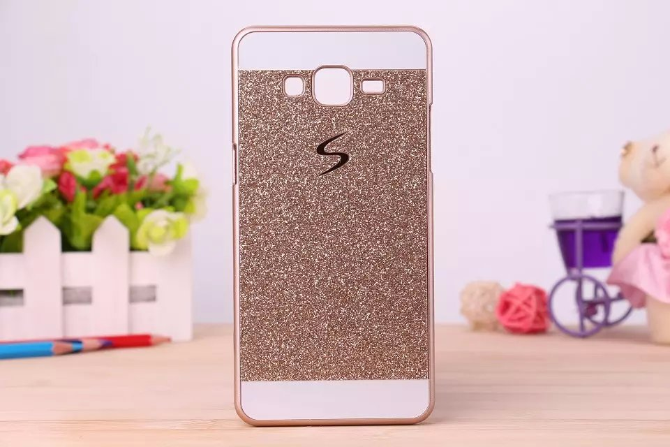 Bling Bling Fashion Shinning Case Glitter Protector Cell Phone Back S Line Cover For Samsung Galaxy Core Prime G360 SM-G360H(China (Mainland))