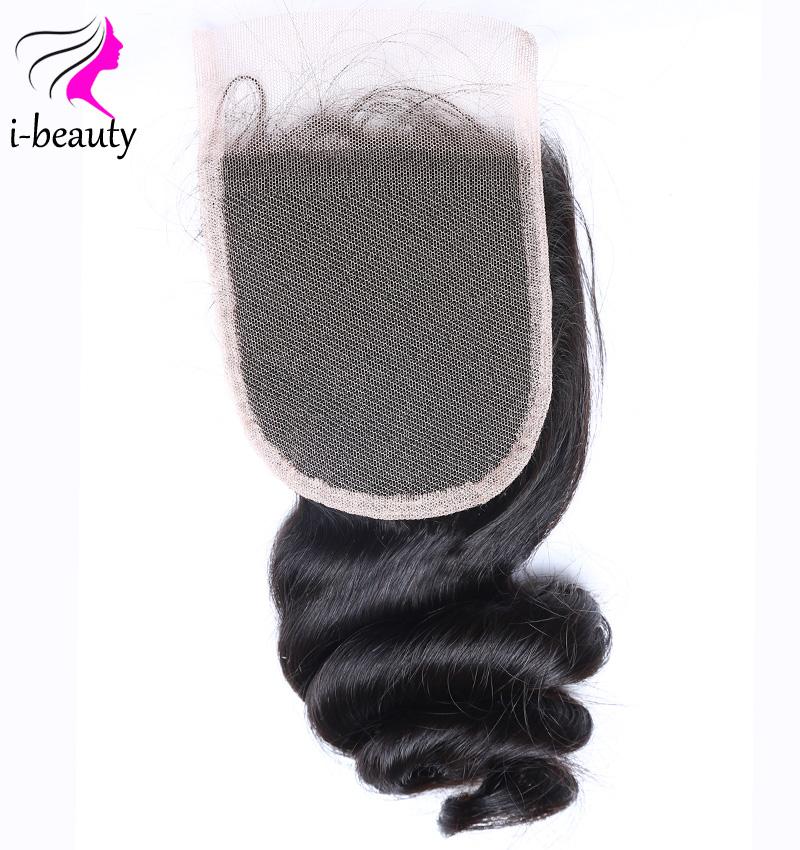 Peruvian Loose Wave Closure Free Part Lace ClosurePeruvian Virgin Hair Human Hair Lace Closure 7a virgin hair Swiss Lace Closure