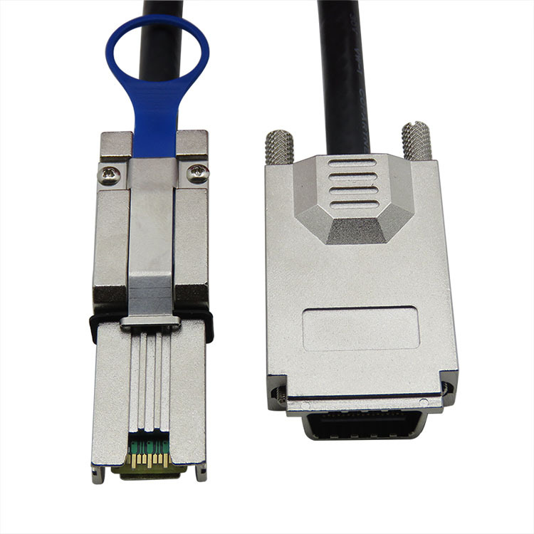 FREE SHIPPING Hight speed 10Gpbs External Infiniband Screw Type Cable SAS 32P  SFF 8470 to SFF 8088 4i 3M(China (Mainland))