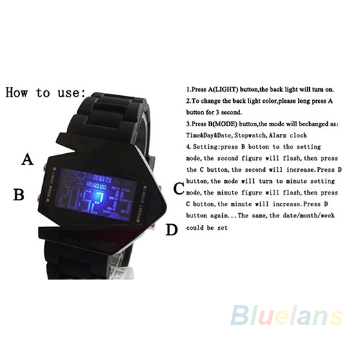 LED Display watches Digital men sports military Oversized watch Back Light women Wristwatches 1CNQ