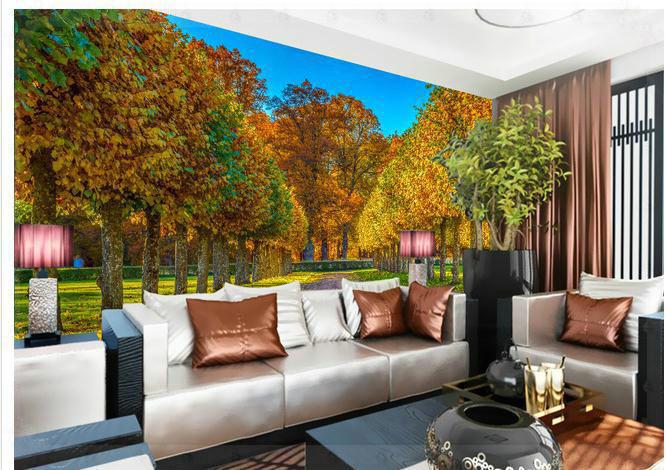 Oto o bosque paisaje papel tapiz mural mural mural de la - Papel pintado paisajes ...