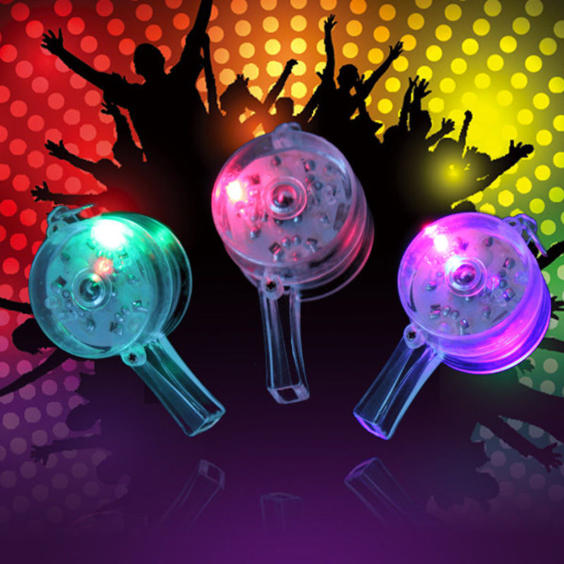 1pc Flashing Whistle HOT Colour Lanyard LED Light Up Fun In the Dark Party Rave(China (Mainland))