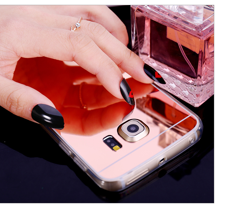 2016 New For Samsung J5 J7 Accessories Discounted TPU Soft Plating Mirror Case for Galaxy S7 S7 edge Phone Cases Freeshipping(China (Mainland))