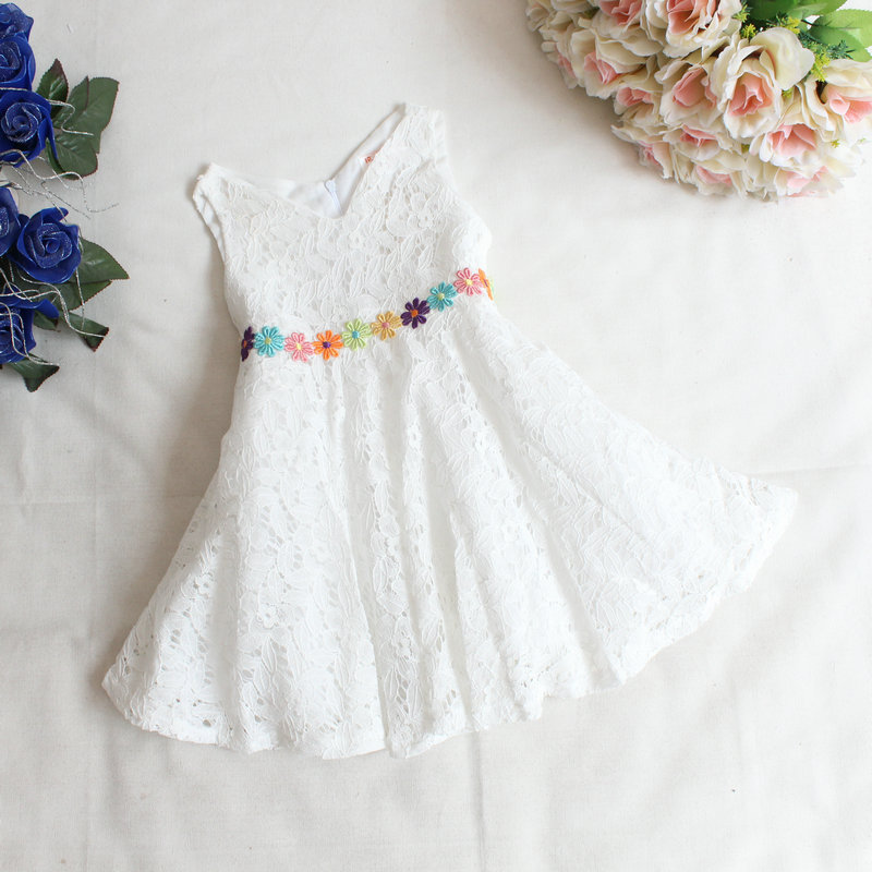 Здесь можно купить  Girls summer lace princess dress , girl clothing , princess dress girl , 4pcs/lot   WH08  Детские товары
