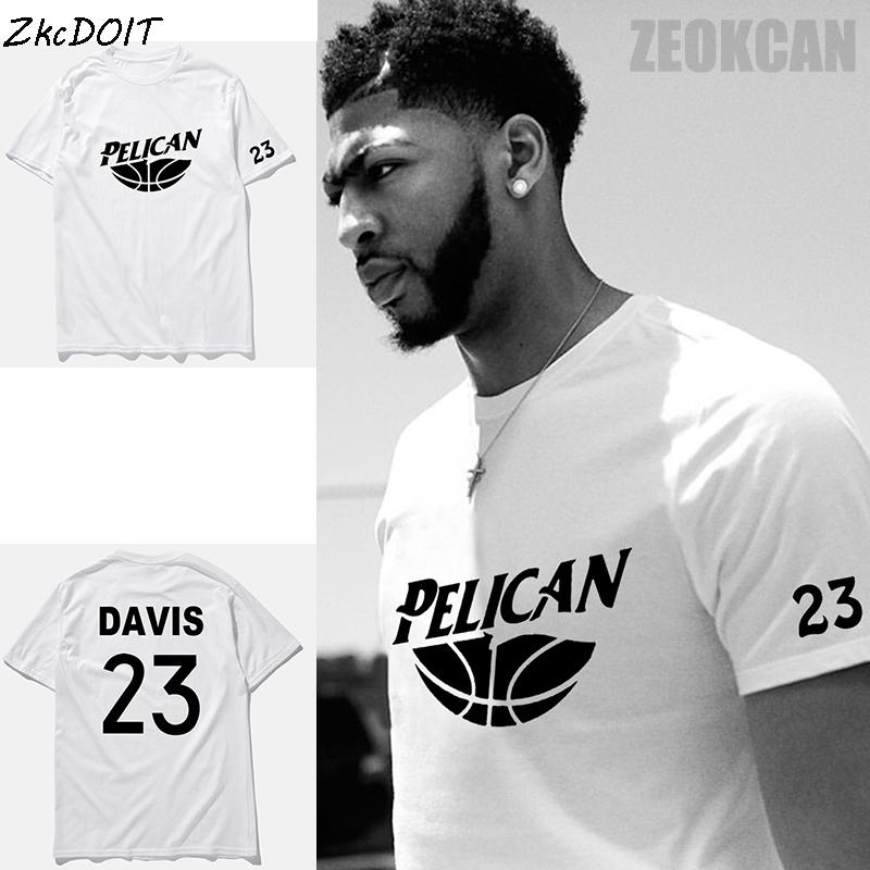 Anthony Davis basketbal jersey summer fashion new brand t shirts short sleeves tee shirt homme white plus size top tee,tx2341(China (Mainland))