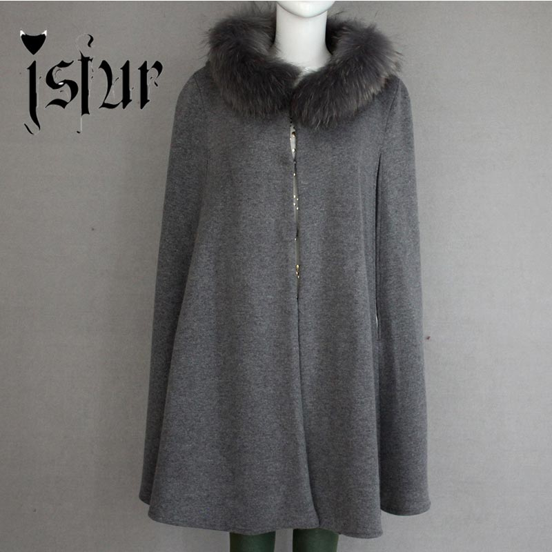 2015Warm Winter High Quality Cashmere Rabbit Hair Blend Fashion Lady Bat-wing sleeved Coat With Real Raccoon Fur Hood Long ShawlОдежда и ак�е��уары<br><br><br>Aliexpress