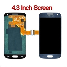 High quality Guaranteed lcd screen display assembly with digitizers without frame for Galaxy S4 mini I9190 i9195 Blue Color(China (Mainland))