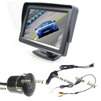 "4.3"" wireless auto rear view camera system,wireless car back up camera and monitor system"