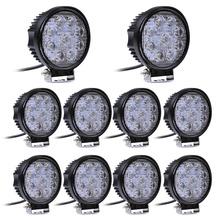 10x 48W Off Road Spot Light Round LED Work Light Waterproof LED Spot Lamp for Car Truck Vehicle Driving Boat Drop shipping(China (Mainland))