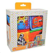 new colorful baby toy tesco loves baby blocks animal digit cloth cubes 4pcs/set(China (Mainland))