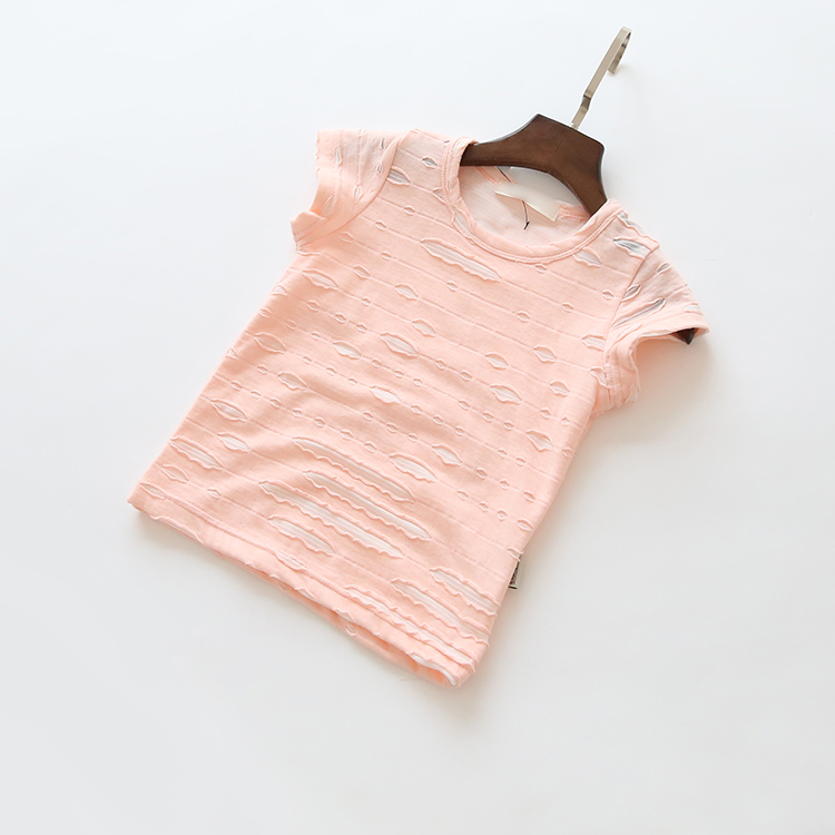 summer children's cotton short-sleeved T-shirt baby boys and girls fashion cute personality simple T-shirt shirt kids tops tees()