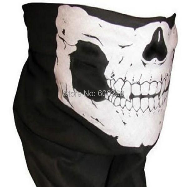 Hot sales Skull Bandana Bike Motorcycle Helmet Neck Face Mask Paintball Ski Sport Headband free shipping(China (Mainland))