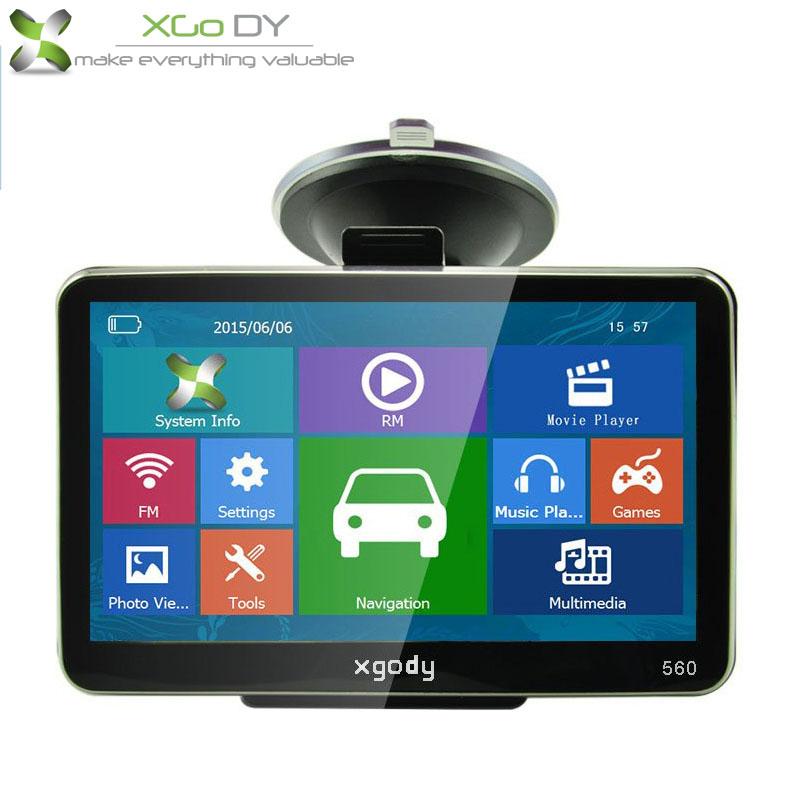 Xgody New 5 Inch 4GB 128 MTK FM Car Truck GPS SAT NAV Navigator Russian Europe North/South American Maps UK USA STOCK(China (Mainland))
