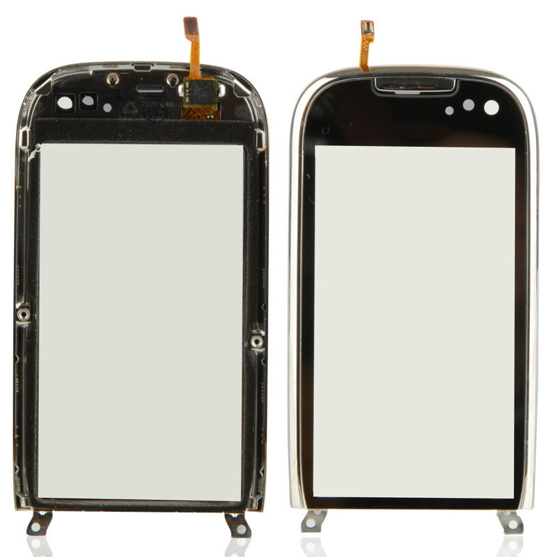1Pc Replacement Touch Screen Digitizer With Frame Fit For NOKIA C7 B0097 T50(China (Mainland))