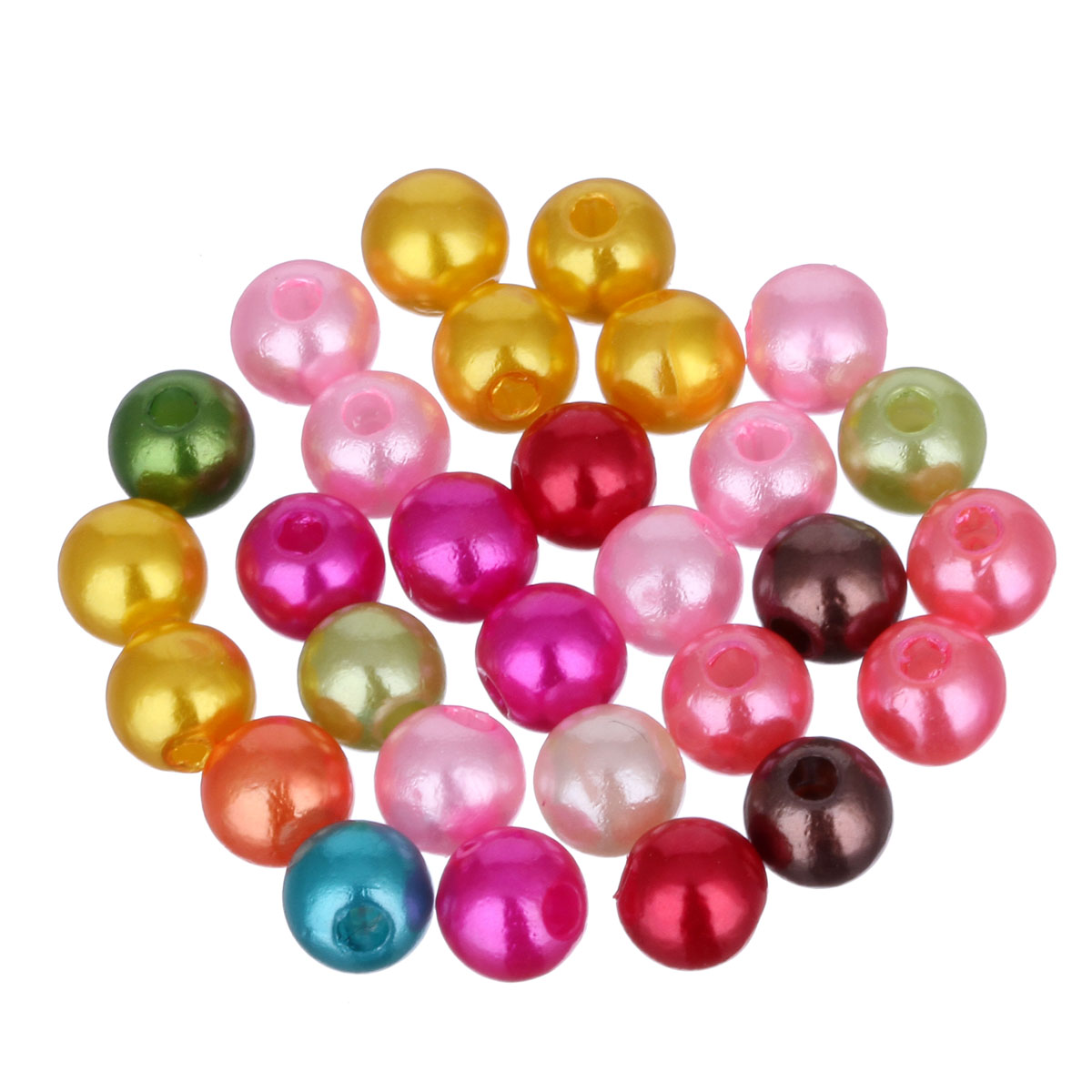 Гаджет  200pcs/lot Cheap 5A Quality! 5MM Mixed Color Fashion Round Acrylic Pearl Spacer Loose Beads DIY Jewelry Making Wholesale LIF None Ювелирные изделия и часы