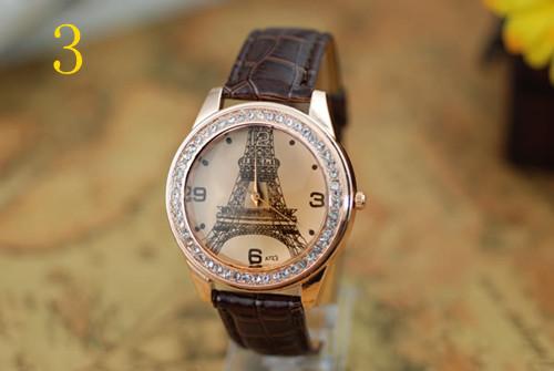 Fashion Woman Quartz Watches Leather Jewelry Eiffel Tower Watch Casual Lady Wristwatches Sports Wrist New Hot