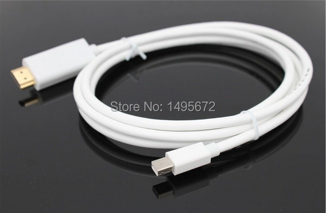 Mini DP to HDMI 1.8M/6FT Thunderbolt Displayport Mini Display Port MINI Male Adapter Converter cable For Apple Mac for Air Pro(China (Mainland))
