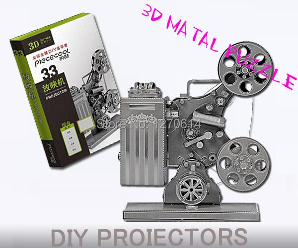 3D Metal Model projectors Metal Works DIY 3D Laser Models / Assemble Miniature Metal Metallic 3D Model,Metallic Nano Puzzle(China (Mainland))