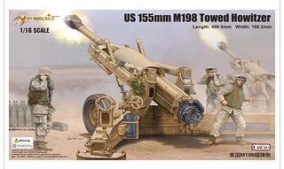 Plastic model kit 61602 1/16 US 155mm M198 Towed Howitzer(China (Mainland))