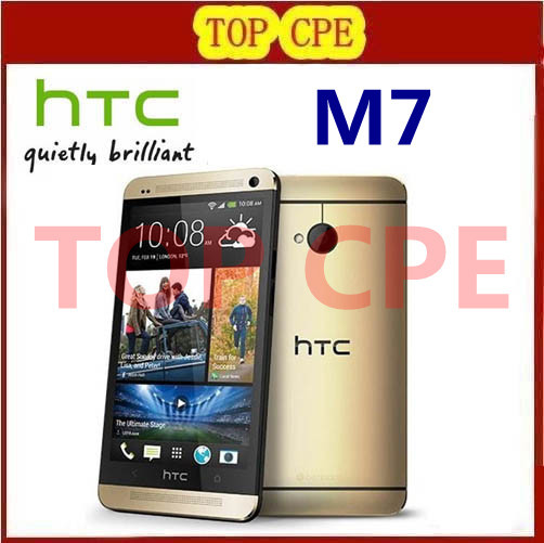 Original phone Quad core Refurbished HTC ONE M7 4.7inches Dual camera 8MP touchscreen WIFI GPS Unlocked phone Free shipping(China (Mainland))