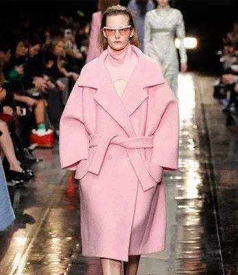 2016 Новый Горячий Высокого класса Большой Бренд Летучая Мышь Типа Розовый Пальто Талии Кружева Двубортные Шерстяные Пальто Сгустите Теплая Куртка Femme Верхняя Одежда