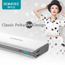 Original ROMOSS Power Bank 10400mAh 18650 Battery Powerbank Sense4 LED External Phone Battery Bank Backup Power Hidden Display
