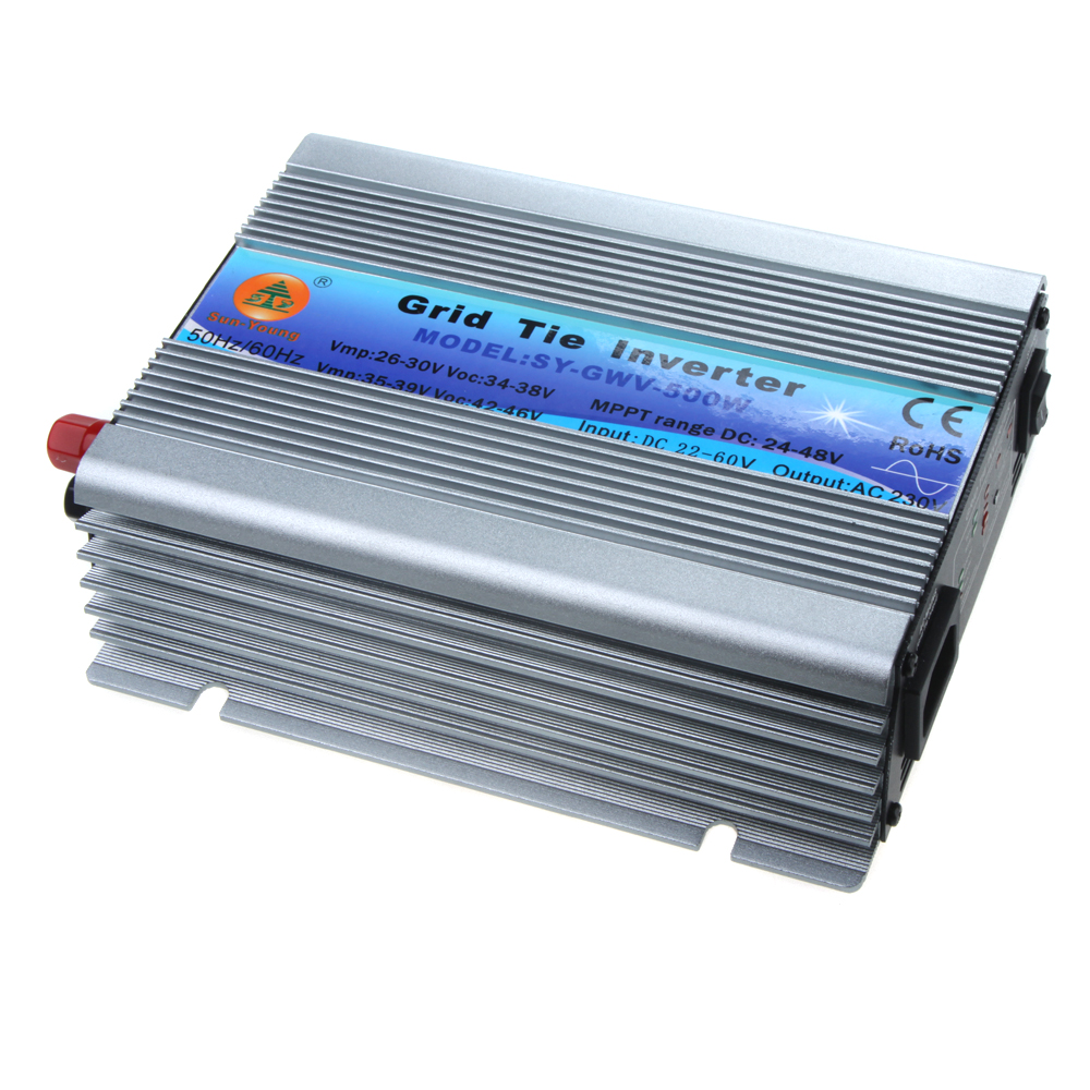 500W Watt Micro Grid Tie Inverter DC 22-60 AC 230V Solar Power Pure Sine Wave inversor senoidal pura micro grid tie inverter(China (Mainland))