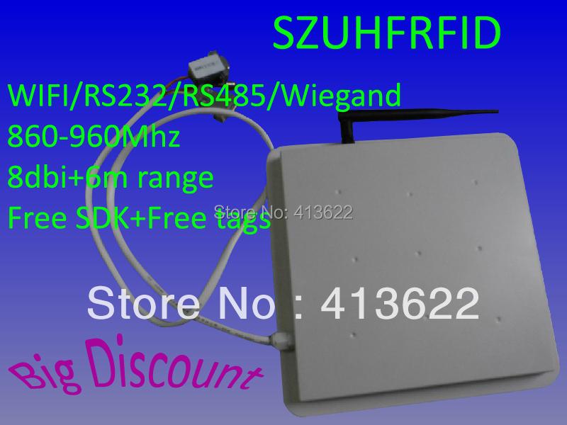 SZ WIFI UHF RFID Reader 6meters High Range Wireless UHF Reader Writer with free SDK+free tags(China (Mainland))