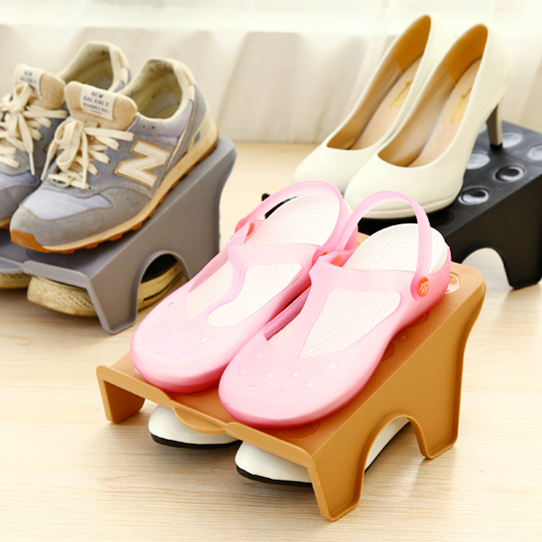 3pcs/lot Plastic Shoe Rack Living Room Furniture Creative High Quality Tidy DIY Shoe Rack Shelf Shoe Storage Organizer Wholesale(China (Mainland))