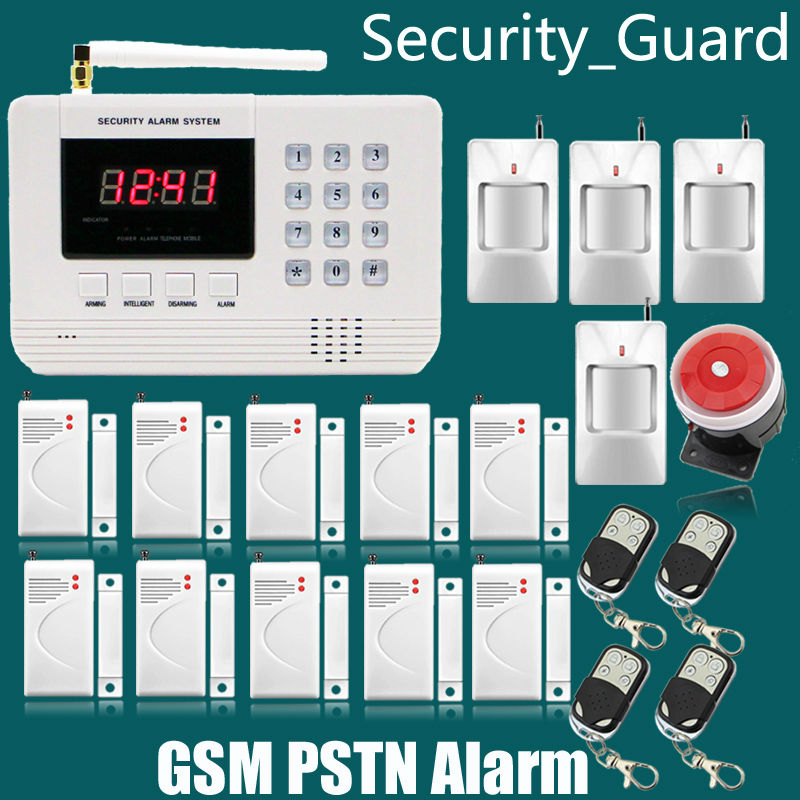 Wireless GSM PSTN Telephone Alarm System For Home security System with PIR/Door Sensor 850/900/1800/1900MHz Dual Antenna(China (Mainland))