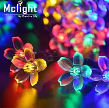 Solar Powered Ball Led String Lights LED Fairy Light for Weeding Christmas Party Festival Outdoor Festoon Light Decoration(China (Mainland))