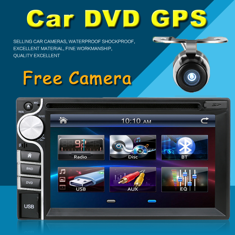 """Universal 2 Din 6.2"""" In Dash Car DVD Player Radio Without GPS/FM/USB/SD/Bluetooth/ HD digital touch screen full popular function(China (Mainland))"""