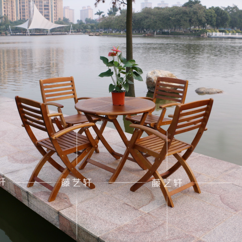 Balcony garden table and chairs for outdoor dining terrace courtyard leisure