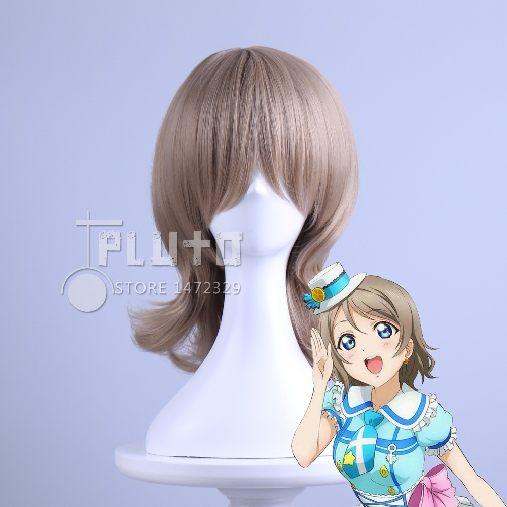Aliexpress.com : Buy Aqours LoveLive!Sunshine!! Love Live Sunshine Watanabe You  Cosplay Wig Linen Hair  Anime Cos Wigs Pluto P391B from Reliable wig orange suppliers on Pluto wig shop