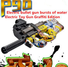 Buy NEW P90 Graffiti Edition Electric Toy Gun Outdoors Toys Children Live CS outdoor toy sports for $38.99 in AliExpress store
