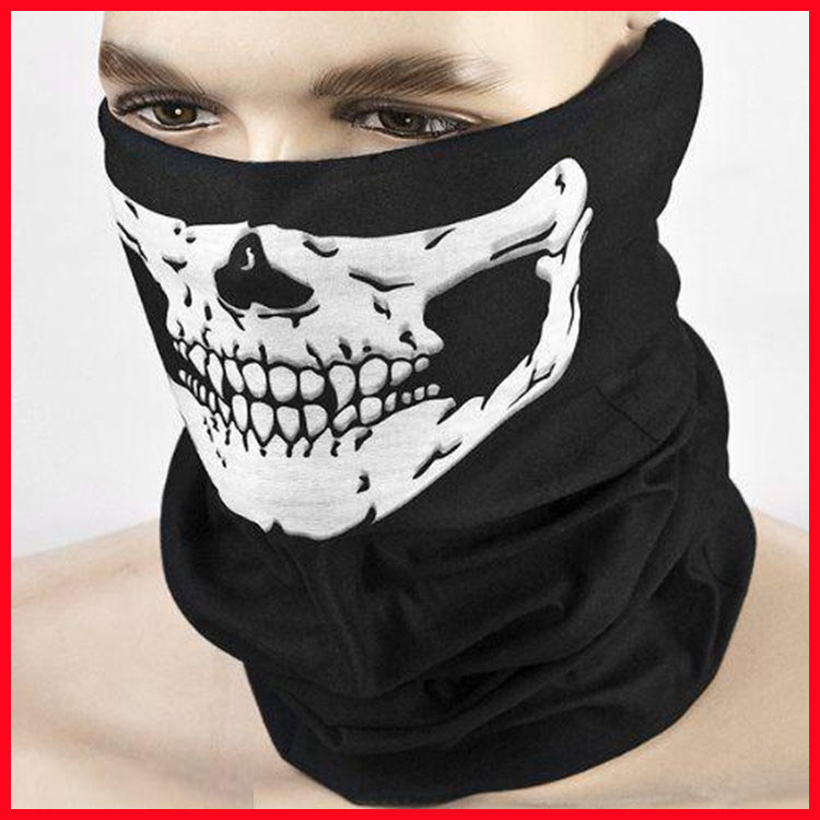 scary mask Halloween Skull Skeleton Motorcycle Bicycle Outdoor Sports Multi function Headwear Scarf Half Face Mask Anonymous(China (Mainland))