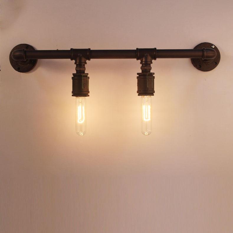 Vintage Water Pipe Wall Lamp American Style Industrial Edison Lamps Decoration Bar Restaurant RH Loft Lighting 2pcs lamps/set