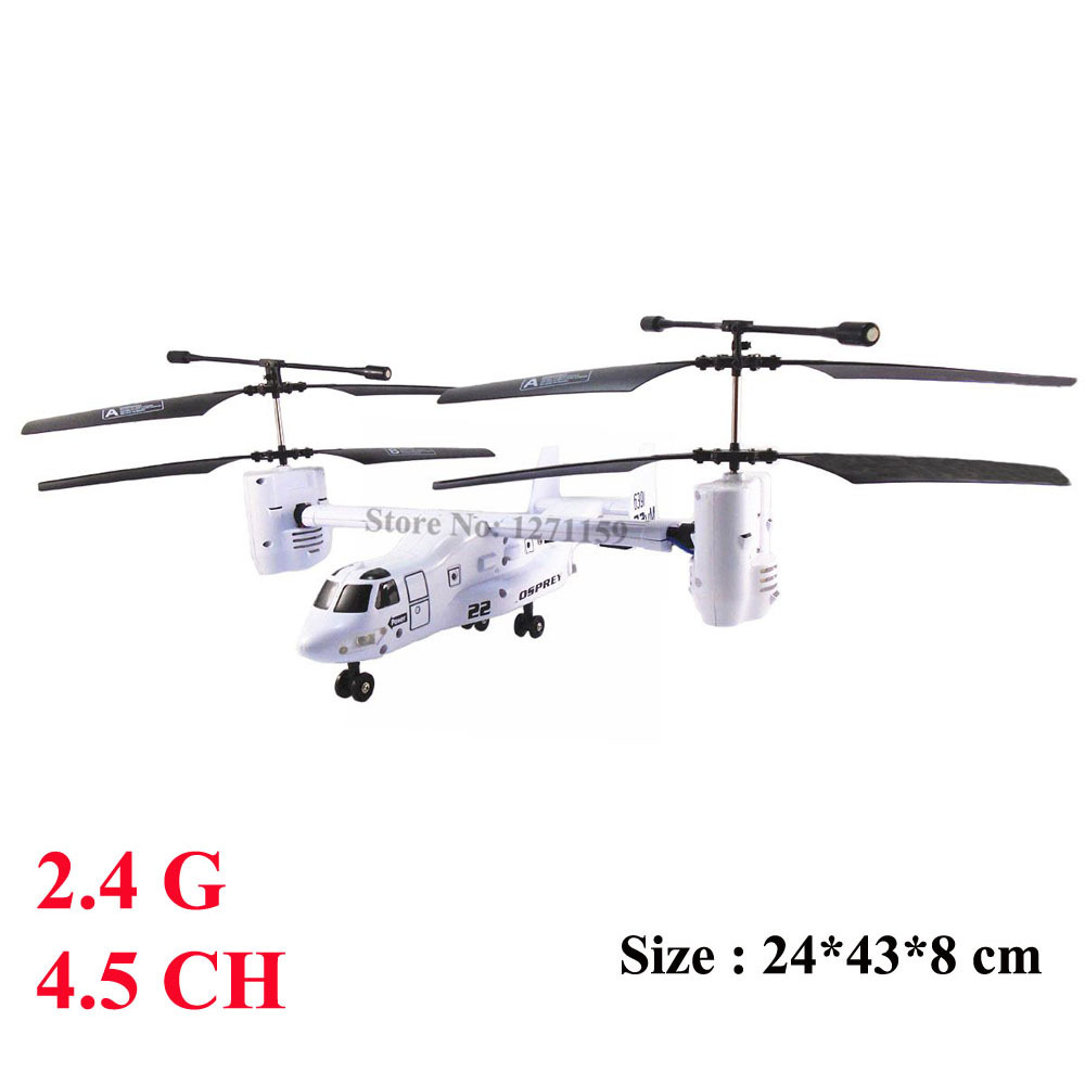 2.4G remote control aircraft 4.5CH Osprey aircraft drones RC Helicopter Birthday gift Remote control toys Free shipping(China (Mainland))