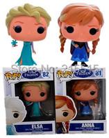 "Free Shipping 4""10cm Princess POP Elsa doll Funko POP Elsa Anna Action figure Anime Doll Kids Gifts Toy With Original Box"