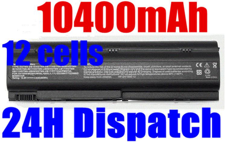 10400MAH laptop battery for COMPAQ Business Notebook ZE2400 ZE2500 ZT4000,COMPAQ Presario B3300 C300 C500 M2000 M2000Z(China (Mainland))