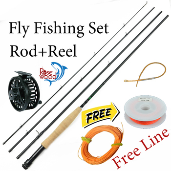 2016 new 3/4 fly fishing rod and reel set CNC cnc fly reel+2.1m carbon firber fly rods free backing leader line flyfishing combo