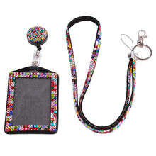Buy Rhinestone Lanyard Sling 5 Colors Bus IC Card Holder Employee Identity Card Badge Lanyard Hang Rope Card Holder 677576 for $2.26 in AliExpress store